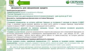 Список документов для одобрения объекта сбербанк