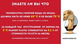 Температура холодной воды в многоквартирном доме норматив