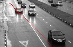 Какой грозит штраф за пересечение сплошной линии зафиксированное видеокамерой