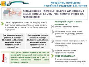 Закон о субсидировании ипотеки при рождении второго ребенка