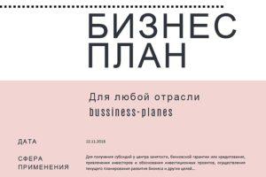 Как написать бизнес план для малого бизнеса для получения субсидии
