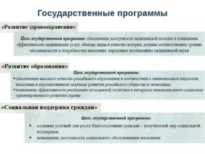 Какие есть социальные программы в россии