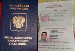 Как выглядит вид на жительство в россии образец