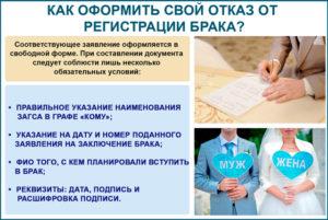 Кто может забрать заявление из загса на регистрацию брака