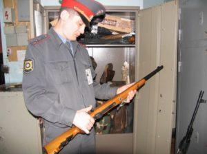 Нарушение правил хранения охотничьего оружия