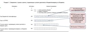 Код бюджетной классификации для возврата ндфл из бюджета физическому лицу