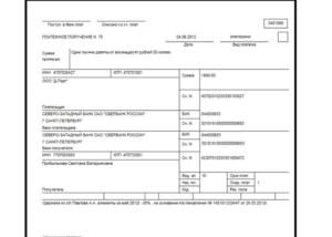 Образец заполнения платежки по зарплате перечислением на карточку