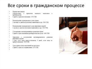 Рассмотрение ходатайства в гражданском процессе сроки