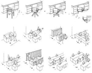 Расстояние между столами в офисе