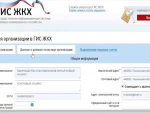 Документы для регистрации тсж в гис жкх