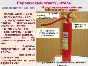 Как проверить огнетушитель порошковый