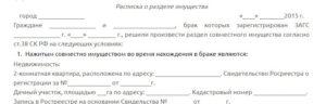 Текст расписки в получении денег за кредит после развода
