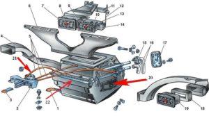 Ваз 2107 карбюратор схема печки воздушных заслонок