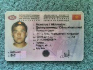 Серия и номер на правах киргизии