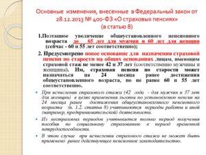 11 и 12 статьях закона 400 фз