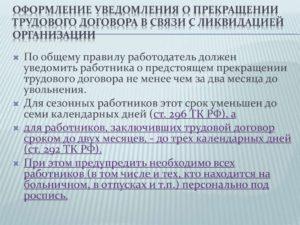 Расторжение договора в связи с ликвидацией