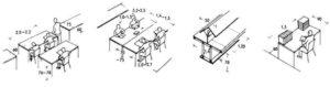 Проходы между столами в офисе норматив
