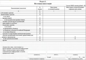 Как правильно заполнить форму п 2 инвест казенному учреждению